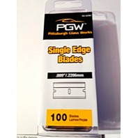 PGW 100 Pack Single Edge Razor Blades .009