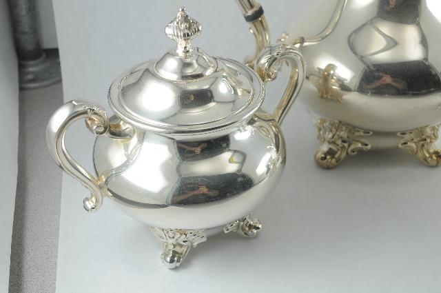 3 piece Reed & Barton Silverplate Tea Set Teapot Creamer Sugar 5600 ...