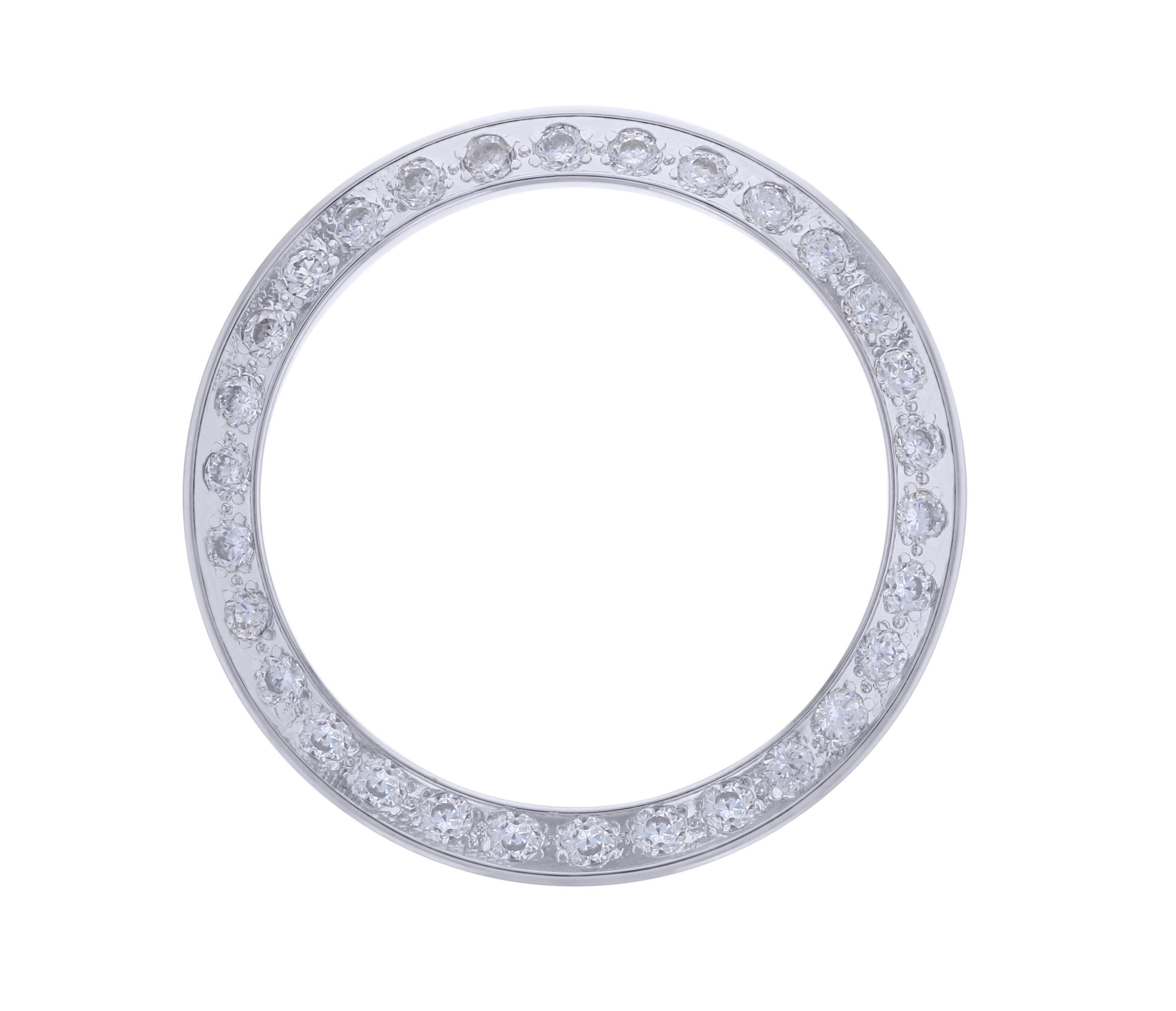 WHITE GP CREATED DIAMOND BEZEL FOR 26MM TUDOR DATE DATEJUST 16503 92413 WATCH