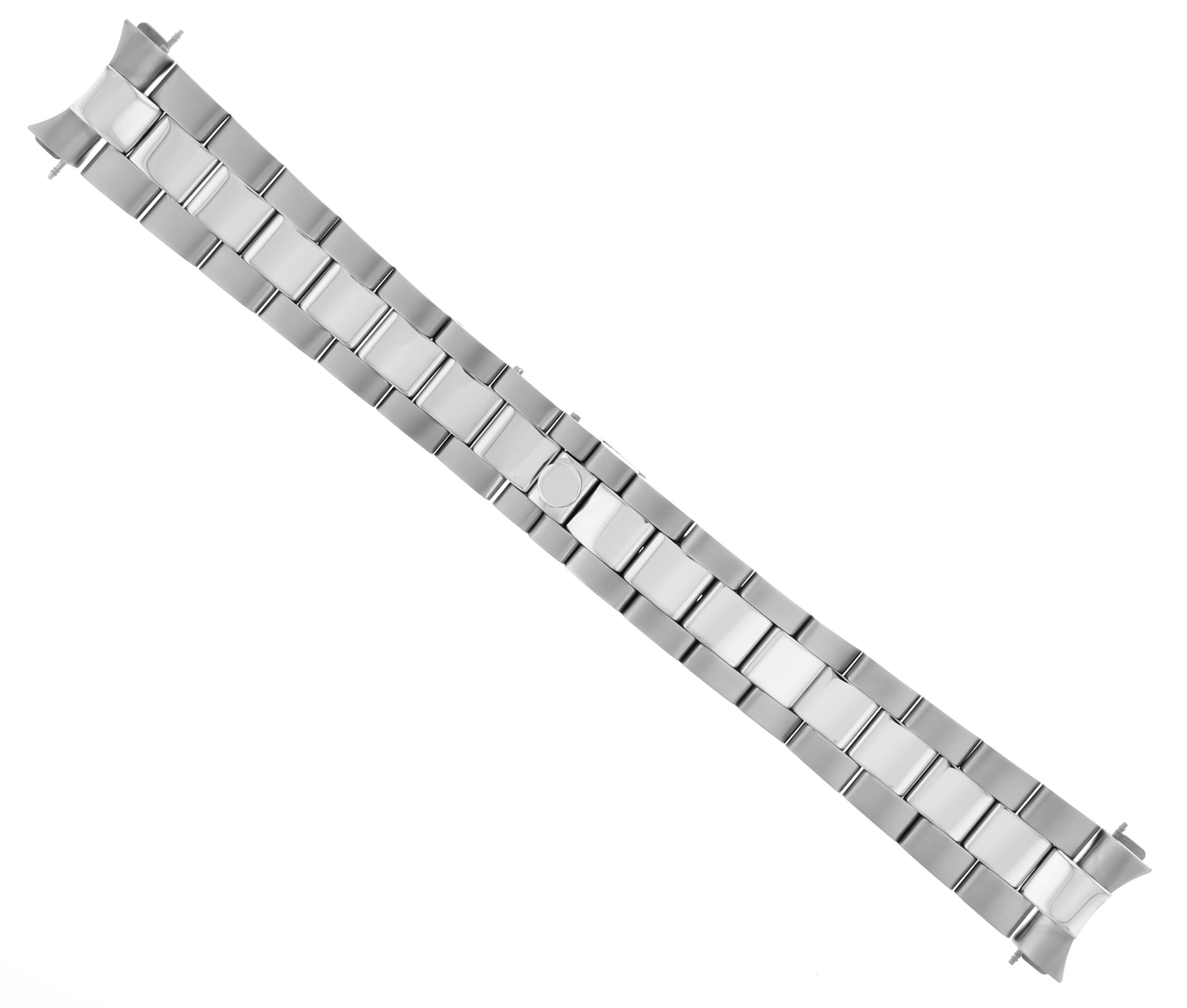 OYSTER WATCH BAND STAINLESS STEEL NEW STYLE FOR ROLEX  HIDDEN CLASP SHINY/CENTRR