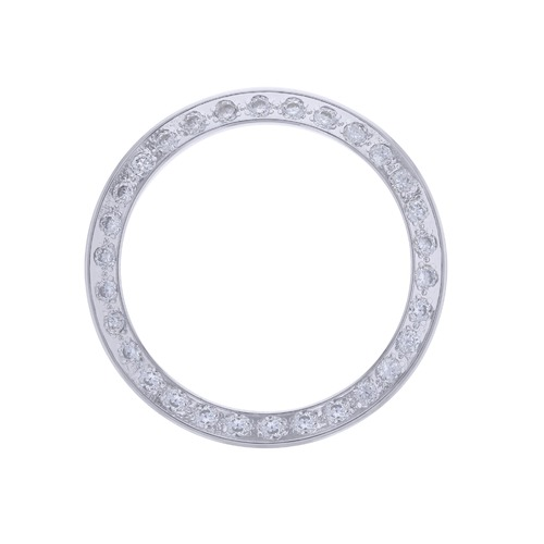 WHITE GP CREATED DIAMOND BEZEL FOR ROLEX DATE 6517 69173 69174  6517 6719 LADY