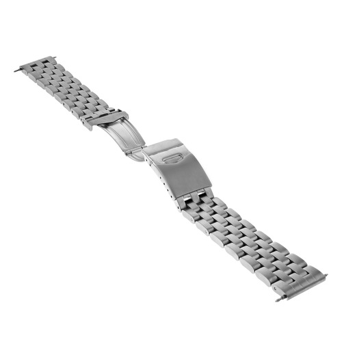 20MM WATCH BAND SOLID STAINLESS ST FOR BREITLING PILOT BENTLEY MATTE HEAVY T/QTY