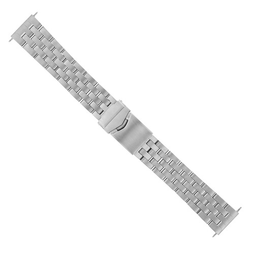 20MM WATCH BAND SOLID STAINLESS ST FOR BREITLING PILOT BENTLEY MATTE HEAVY TOP QLTY