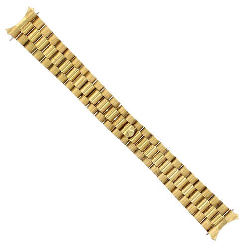 20MM PRESIDENT STYLE WATCH BAND FOR MEN ROLEX DATEJUST 36MM REMOVEABLE  END PIECE GOLD GP