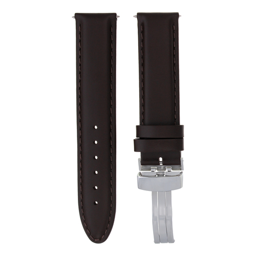 24MM LEATHER WATCH BAND STRAP FOR FRANCK MULLER WATCH DEPLOY CLASP LIGHT BROWN