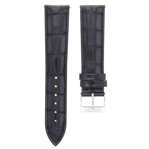 19MM LEATHER WATCH BAND STRAP FOR ROLEX CELLINI WATCH 19/18MM BLACK