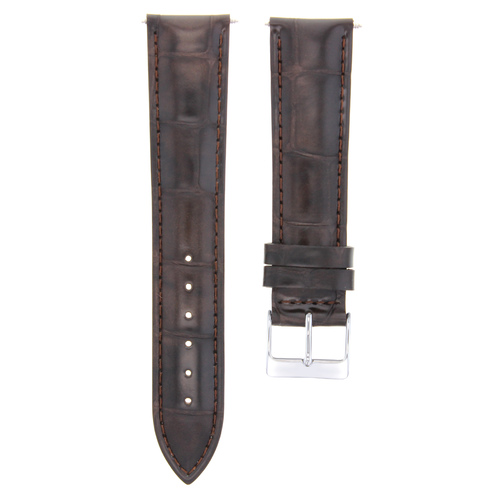 20MM ITALIAN LEATHER WATCH STRAP BAND BRACELET FOR CHOPARD WATCH DARK BROWN