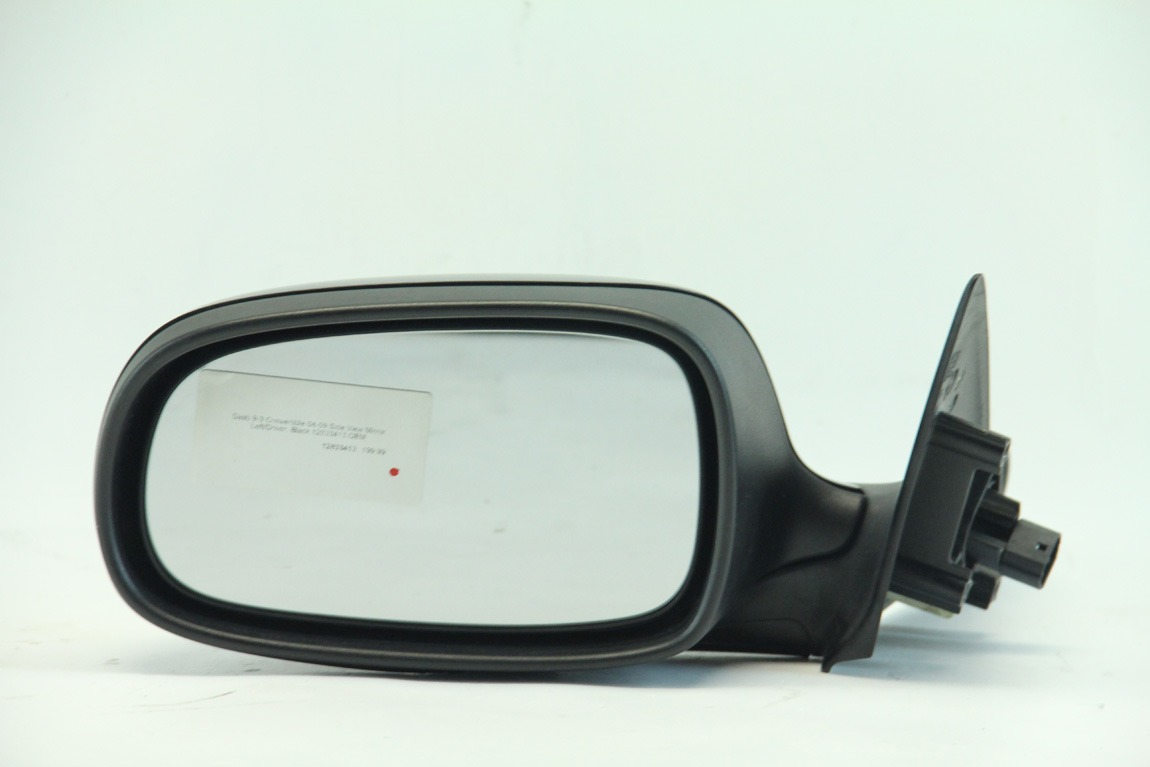 Saab 9-3 Convertible 04-09 Side View Mirror Left/Driver, Black 12833413 OEM