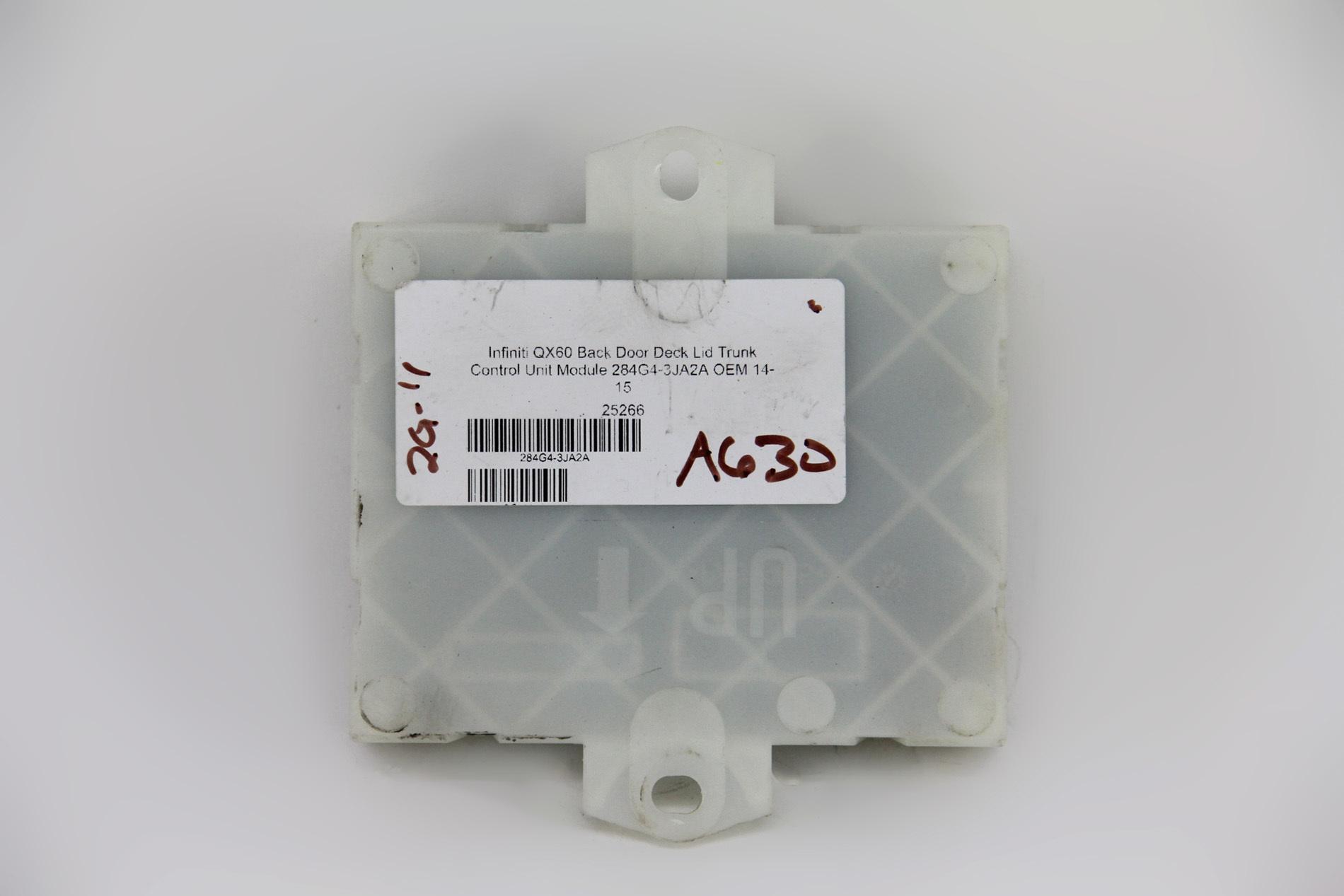 Infiniti QX60 Back Door Deck Lid Trunk Control Unit Module 284G4-3JA2A OEM  14- ...