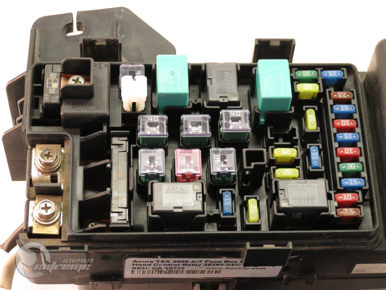 07 Acura Tsx Fuse Box Wiring Library Under Dash Diagram 2002 Ford E350 Cube Van 2005 A T Hood Control Relay 38250