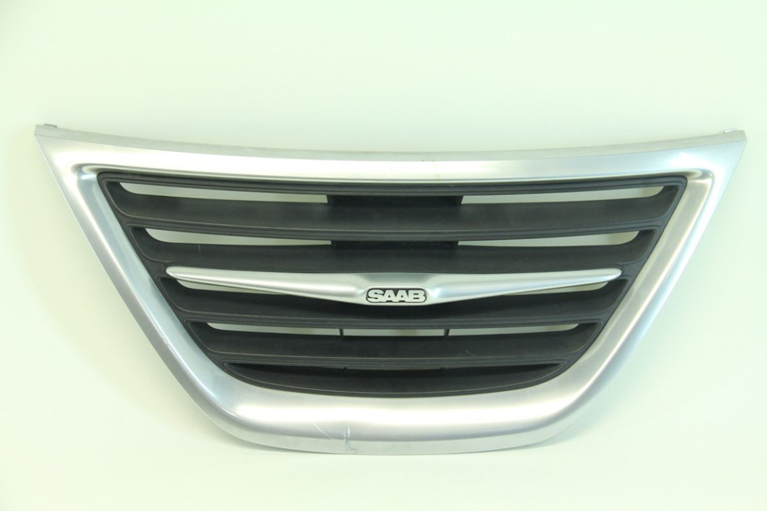 Saab Sedan 9-3 08 09 10 11 Front Bumper Center Grille Grill, Chrome 12765507