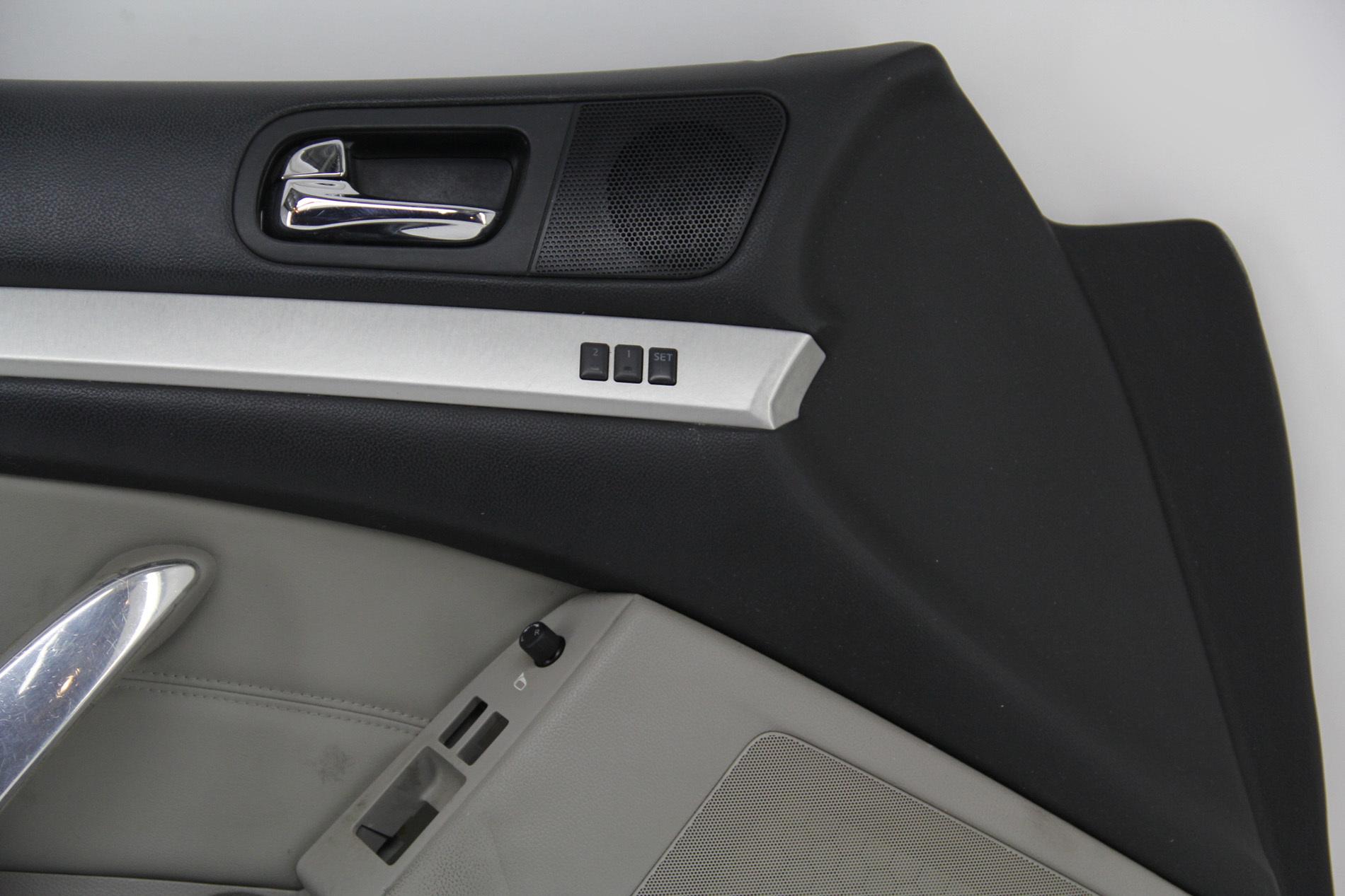 Infiniti G37 Coupe 08 13 Front Left Driver Door Panel Black Gray 80901 Jl34c Oem Extreme Auto Parts