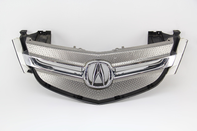 Acura MDX 07-09 Front Upper Grille Grill Pearl White W/Emblem OEM 75100-STX-A01ZD
