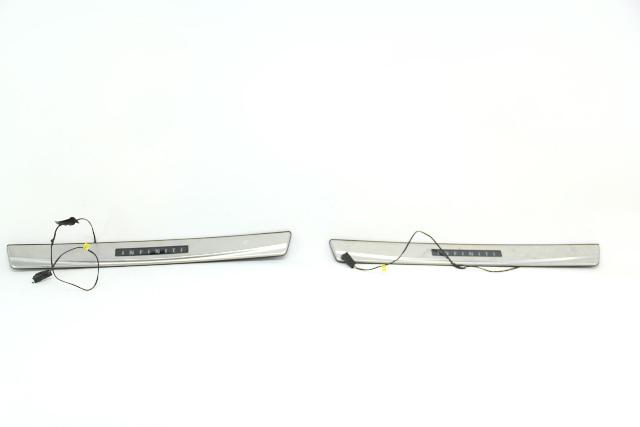 Infiniti G37 Sedan 08-13 Outer Scuff Kick Plate Set Chrome OEM 08-13