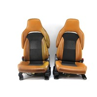 Nissan 350Z 03-07 Front Seat Set Left Driver Right Pass Orange/Mesh 87300-CF49E