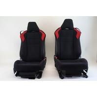 Scion FR-S Subaru BRZ 13 14 15  16 Front Left & Right Cloth Black/Red Seats Set