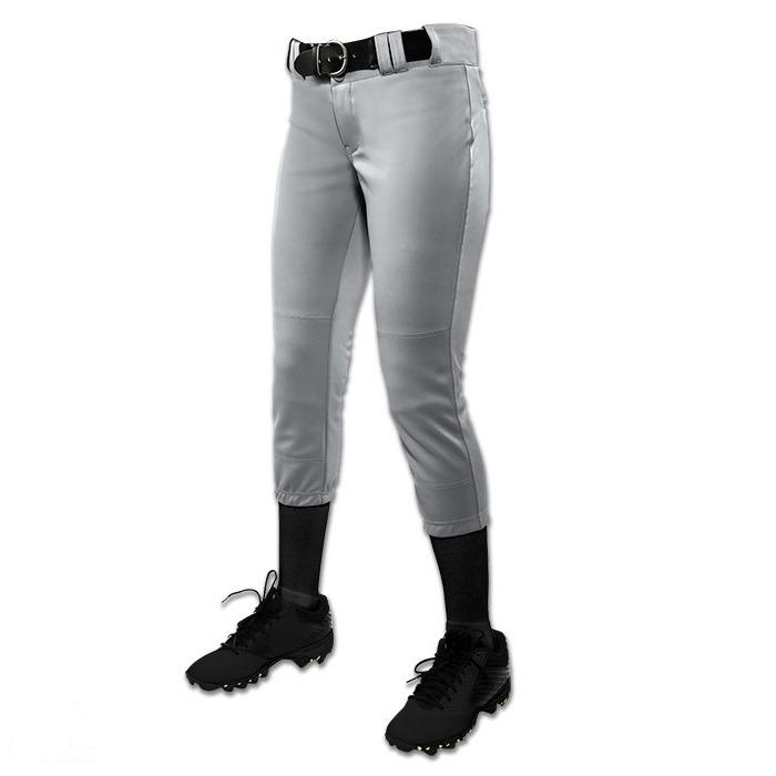 X-Large Black CHAMPRO Womens Sports Low-Rise Softball Pants