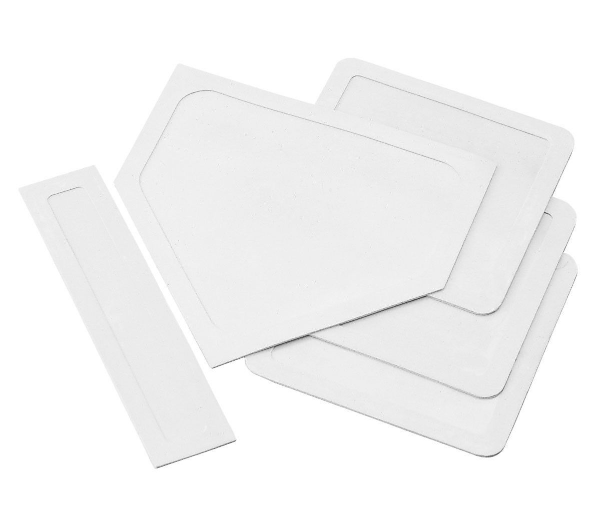 Homeplate /& Pitching Rubber White New Champion Baseball Throw Down 3 Base Set