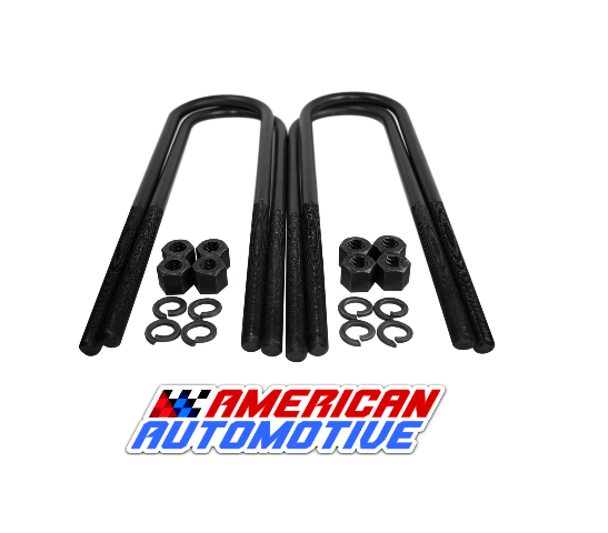 """4 ea Round U Bolts for a 3 1//4/"""" Wide  Axle 11/"""" Long  9//16/"""" Thread USA Made"""
