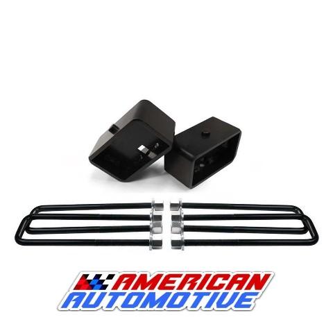 2 Solid Steel Rear Suspension Lift Blocks 8.5 Leaf Spring Axle U Bolts