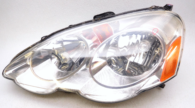 OEM Acura RSX Left Driver Chrome Left Driver Headlight Head Lamp Tab - Acura rsx headlight bulb