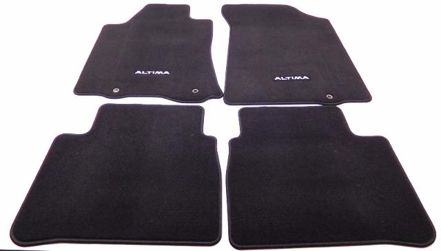 details about new oem nissan altima 4 piece carpet floor mat set black 999e2 uz000