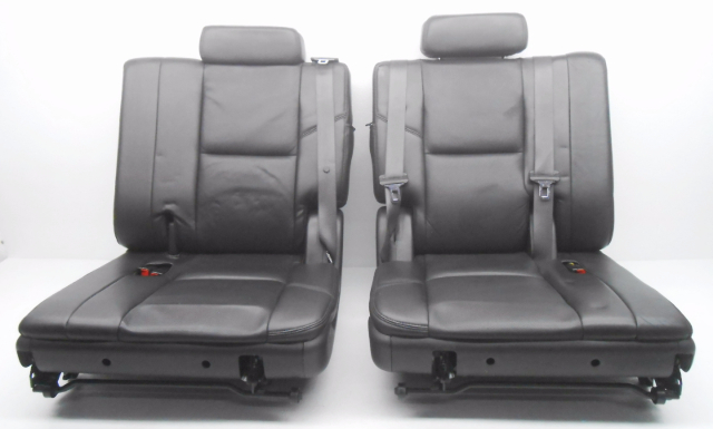 OEM Cadillac Escalade 3rd Third Row Seat Seats Black Leather W/ Seat