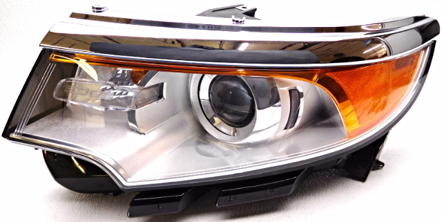 Oem Ford Edge Left Driver Hid Headlight Chrome Pits Complete