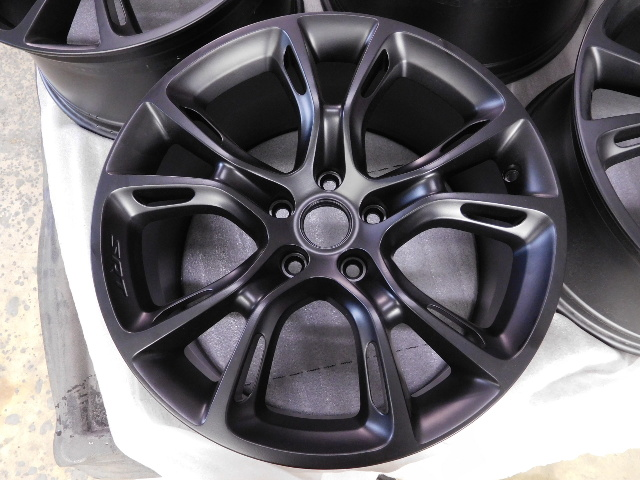 Oem Jeep Grand Cherokee Srt Bare Wheels Matte Black Set 20