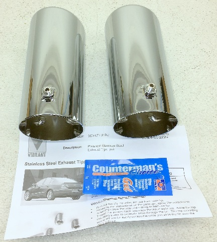 NEW OEM CHROME EXHAUST TIPS 2006 2007 2008 2009 VOLKSWAGEN RABBIT 2.5 1K0071910U