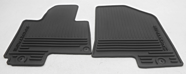 Additional Description And Condition Notes: Front Floor Mats Only. All  Weather Rubber Mats With Oval Non Slip Clip Holes