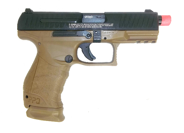 Details about Umarex Walther PPQ Tac Gas Blow Back Airsoft Pistol by VFC -  Black/Tan - New