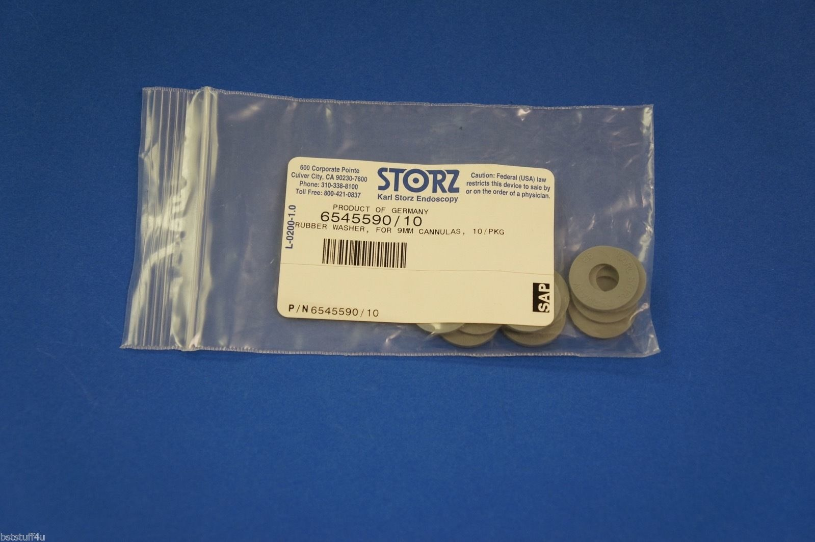 Karl Storz 6545590 Rubber Washer For 9mm Cannulas ~ Pack of 10 | eBay