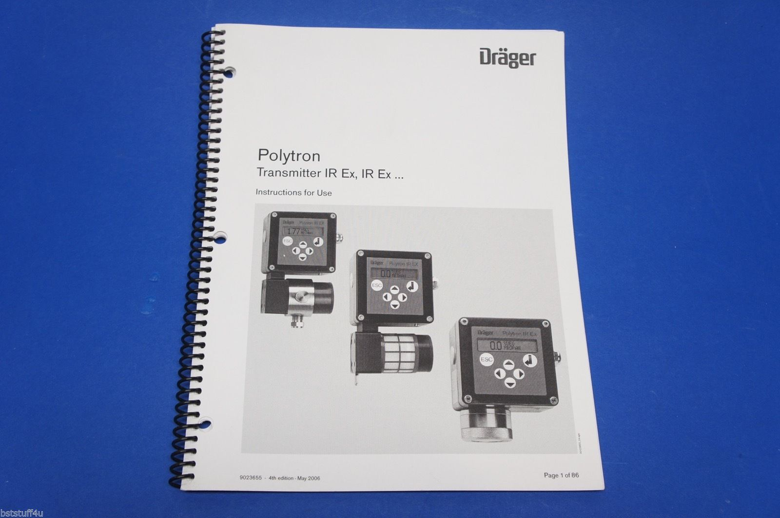 Drager Polytron Transmitter IR Ex, IR Ex… Instruction