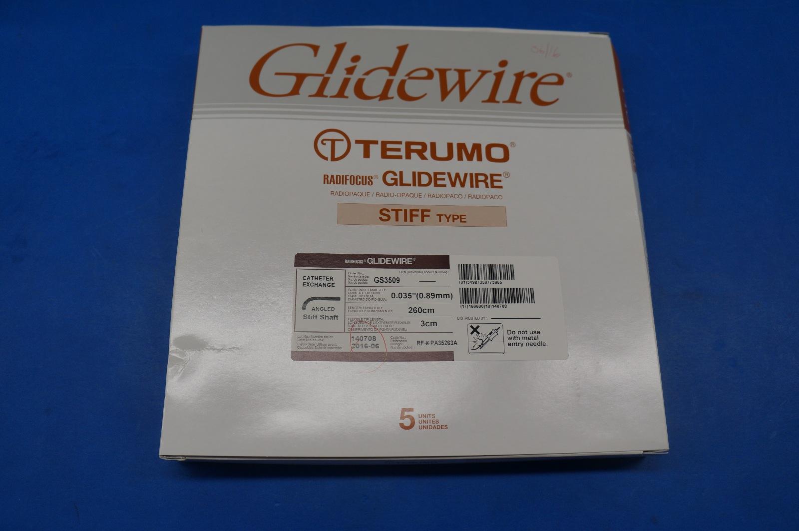 Glidewire GS3509 Terumo Radiofocus Angled Stiff Shaft 0.035 | eBay