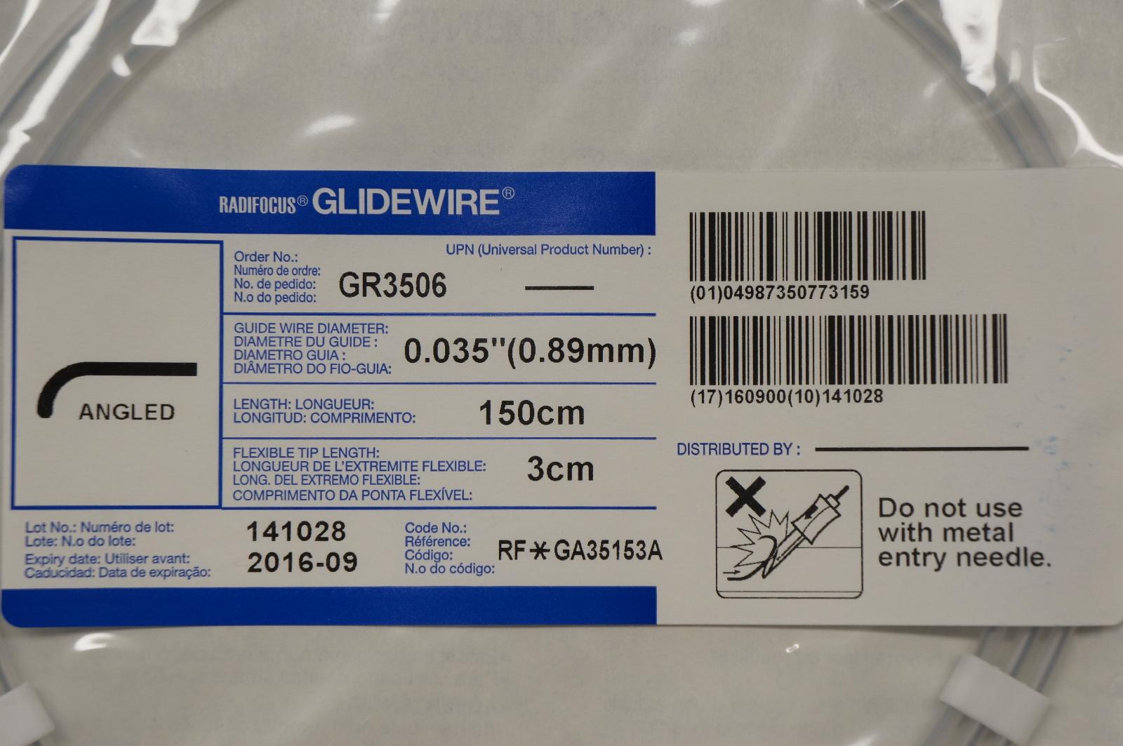 Terumo GR3506 Radifocus Glidewire Angled, 0.035 | eBay
