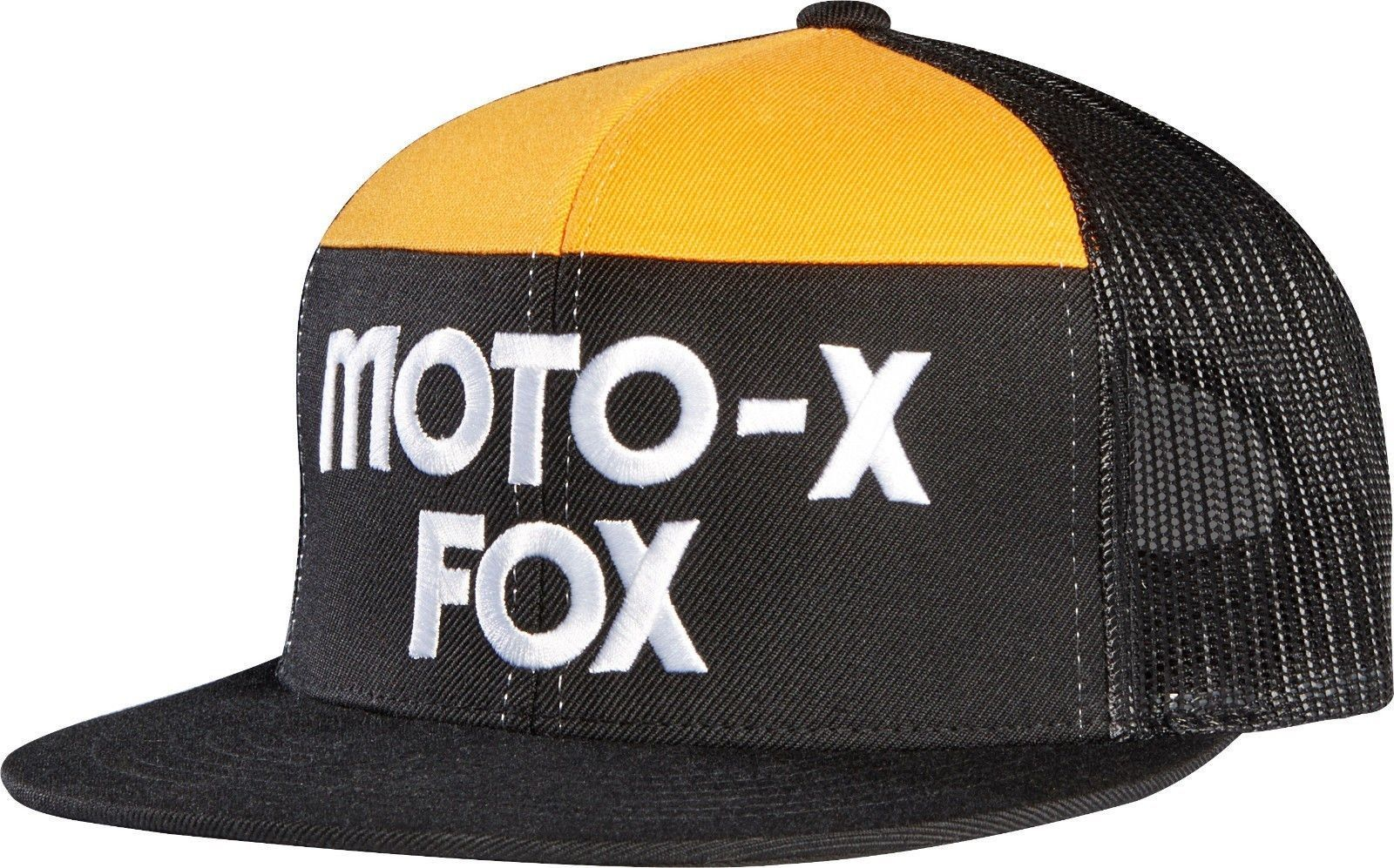 los angeles 4f4b0 252f8 ... coupon for fox racing 40 year moto x black snapback hat adjustable strap  one size cap