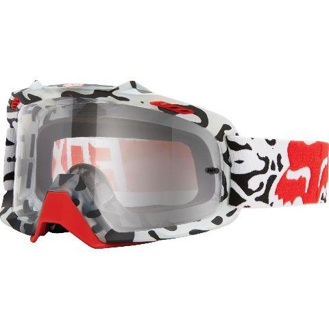 Clothing, Helmets & Protection Eyewear Clear Lens MX ATV MTB New Fox Racing Airspc Air Space Goggle Cauz Blue White