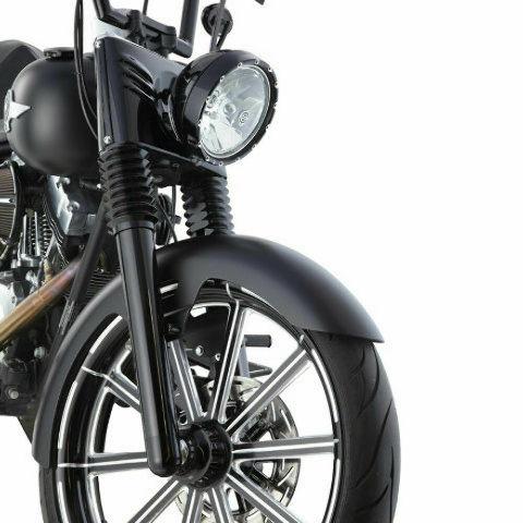 Details about Arlen Ness Black Retro Fork Boots for 86-13 Harley Davidson  FLHT 20-004