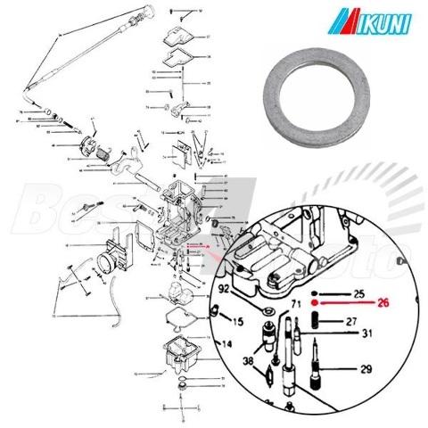 Details about Genuine Mikuni VM12/33 Pilot Air Screw Washer for most Mikuni  Carburetors