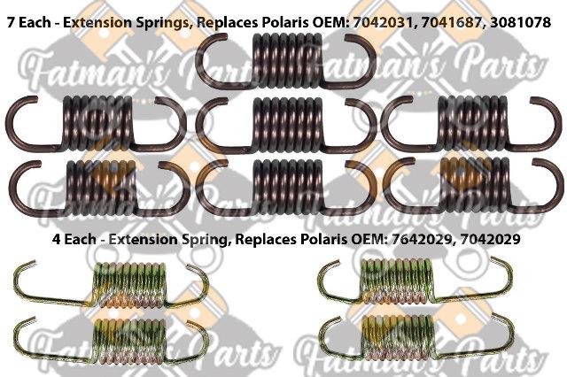 Exhaust Spring Replacement Kit for Polaris 700 800 XC SP 600 800 RMK Snowmobile