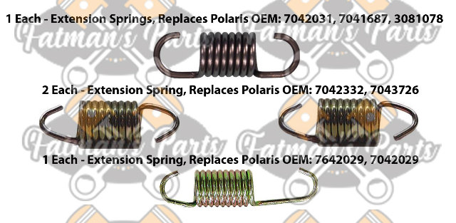 Exhaust Spring Replacement Kit for Polaris 500 Classic 500 Indy Snowmobile