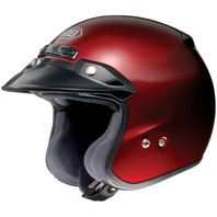 Shoei RJ Platinum-R Open-Face Motorcycle Helmet - WINE RED - Adult Sizes XS-2XL