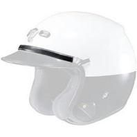 """Shoei RJ Platinum-LE Helmet Law Enforcement Silver Deluxe 10"""" Rank Band 03-891"""