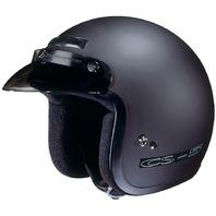 HJC CS-5N Flat Black Open-Face Helmet - Sizes XS-2XL
