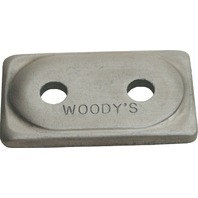 Woodys Snowmobile Double Digger® Aluminum Support Plates 12 Pack - ADD2-3775