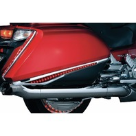 Kuryakyn 3232 Chrome Red LED Saddlebag Accent Swoops Cover Trim Honda Goldwing