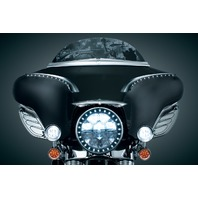 Kuryakyn 7796 Chrome Batwing Fairing Brow for 1996-2013 Harley Davidson FLH