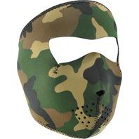 ZANheadgear Neoprene Full Mask Woodland Camo Small - WNFMS118