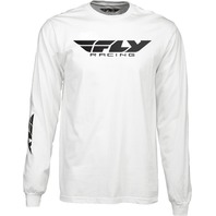 Fly Racing Men's Corporate Long Sleeve Tee - White - Adult Sizes